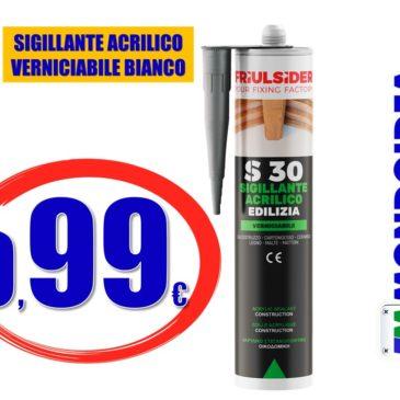 SIGILLANTE ACRILICO VERNICIABILE FRIULSIDER S3001 EDILIZIA