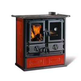 Cucina a Legna Rosetta Liberty Potenza Termica Nominale 7,2 kW Bordeaux