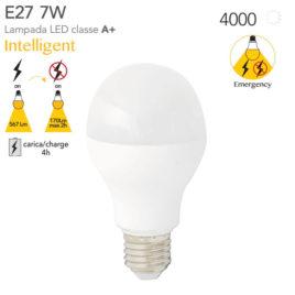 Lampada con Sensore Intelligente di Emergenza a Led Intec E27 7Watt=45Watt 4000K