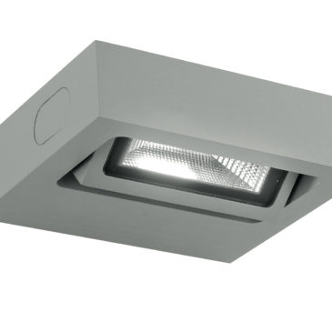 Applique Led Beta Silver Orientabile 3w