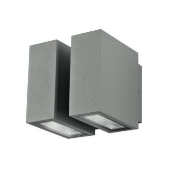 Applique Led Beta Silver 4x3watt Illuminazione per Esterni