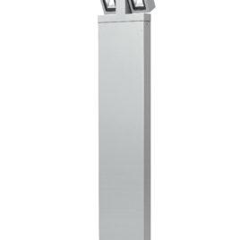 Lampione per esterni Luce Led Orientabile 2x3w Silver